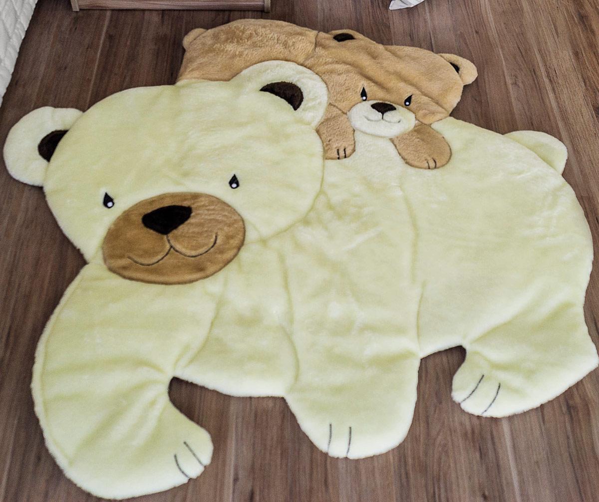 Tapete Infantil Mágico Urso com Filhote Ursinha com Filhote com 1 peças