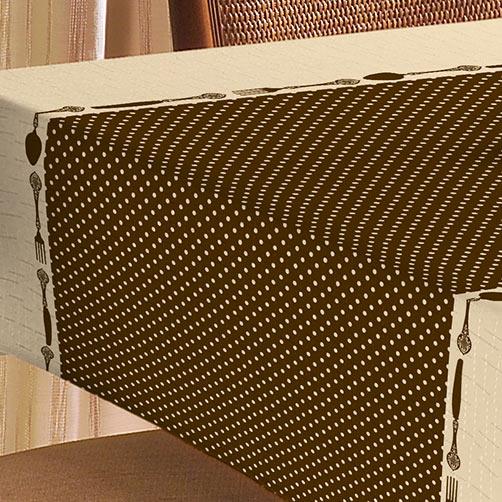 Toalha de Mesa 1,45m Toalha de Mesa Linhão  com 1 peças em Algodão e Poliéster