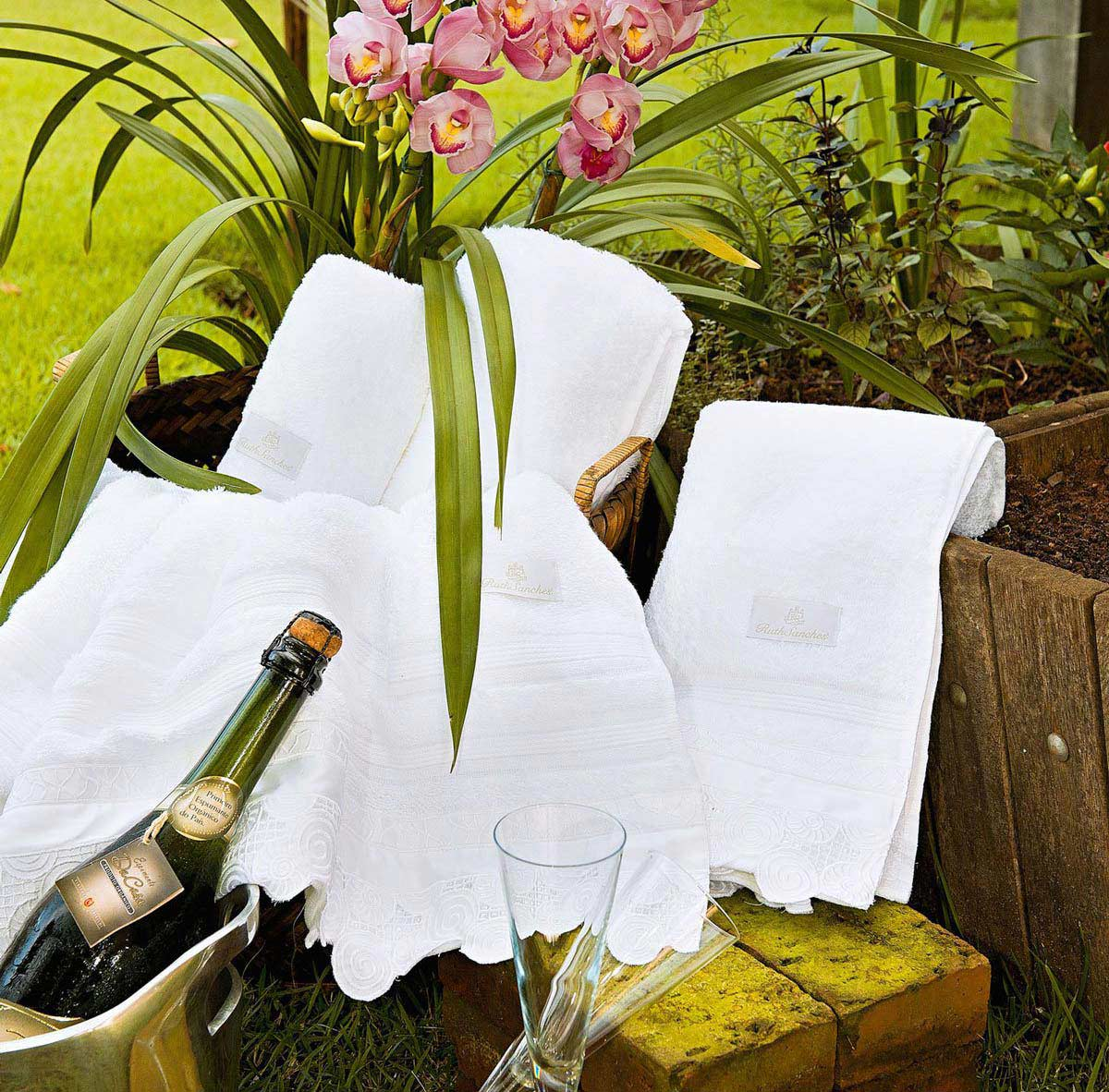 Toalhas de Banho Gigante Savona cor Branco com 5 peças
