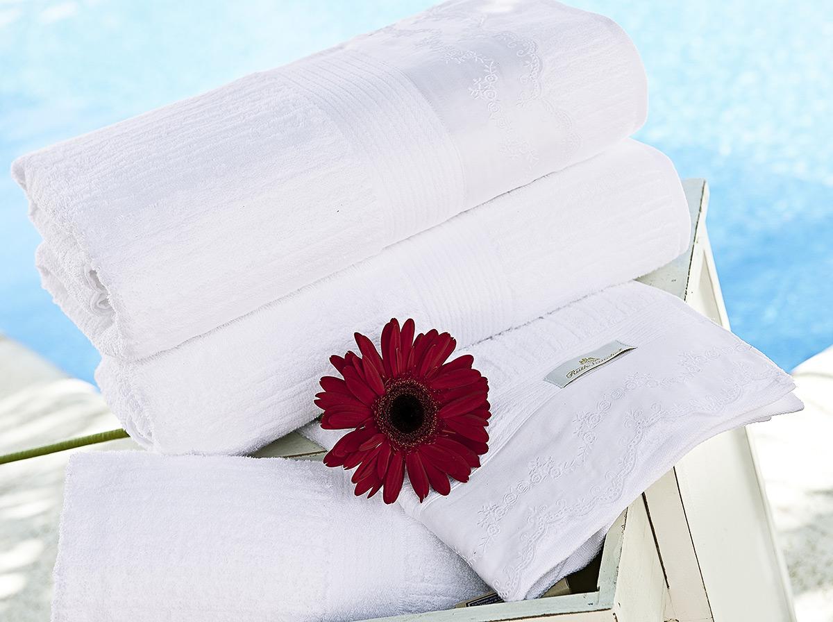 Toalhas de Banho Gigante Tritone cor Branca com 5 peças