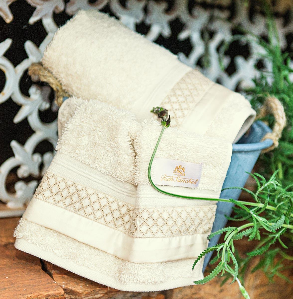 Toalhas Lavabo  Sempione cor Palha com 2 peças