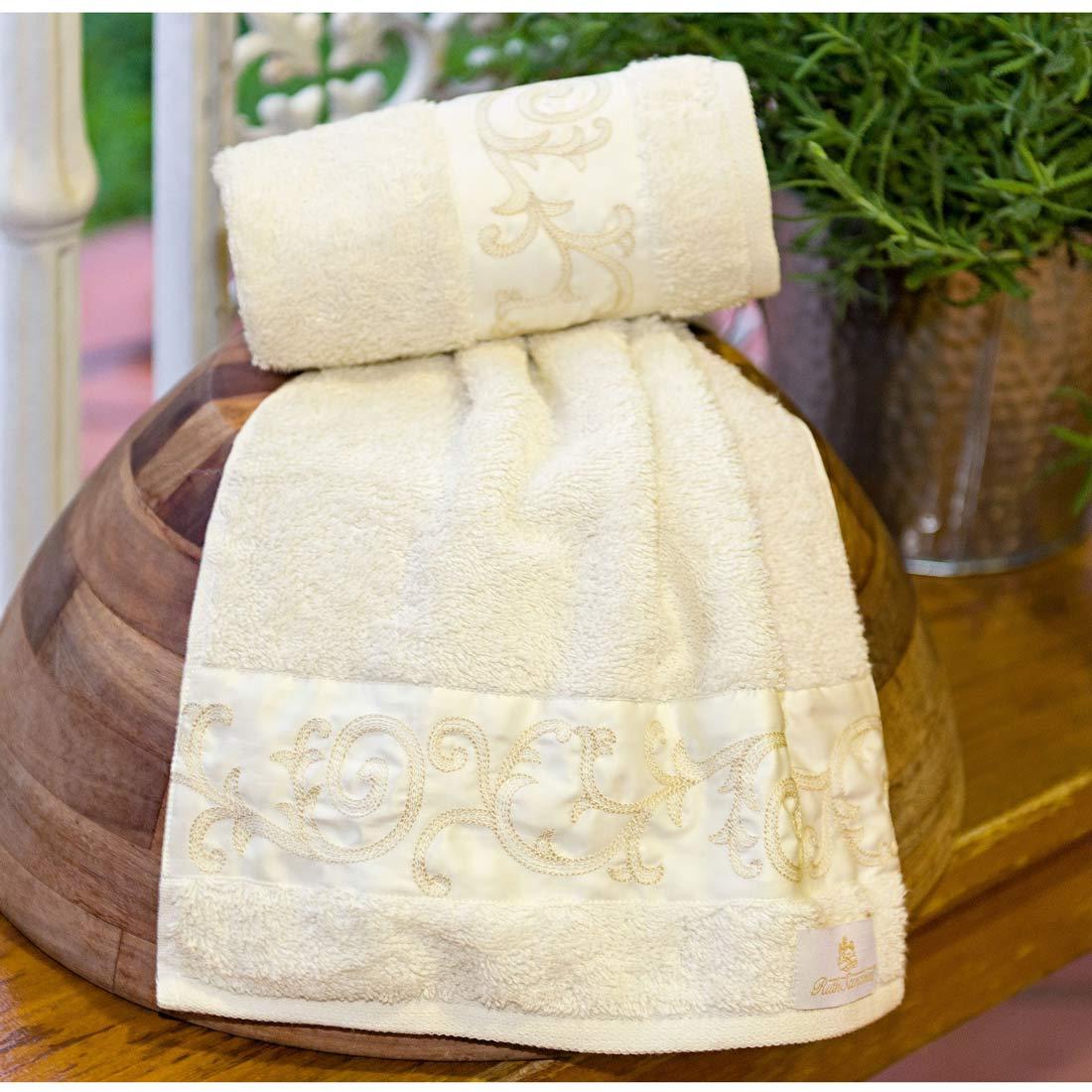 Toalhas Lavabo único Sorano cor Palha com 2 peças