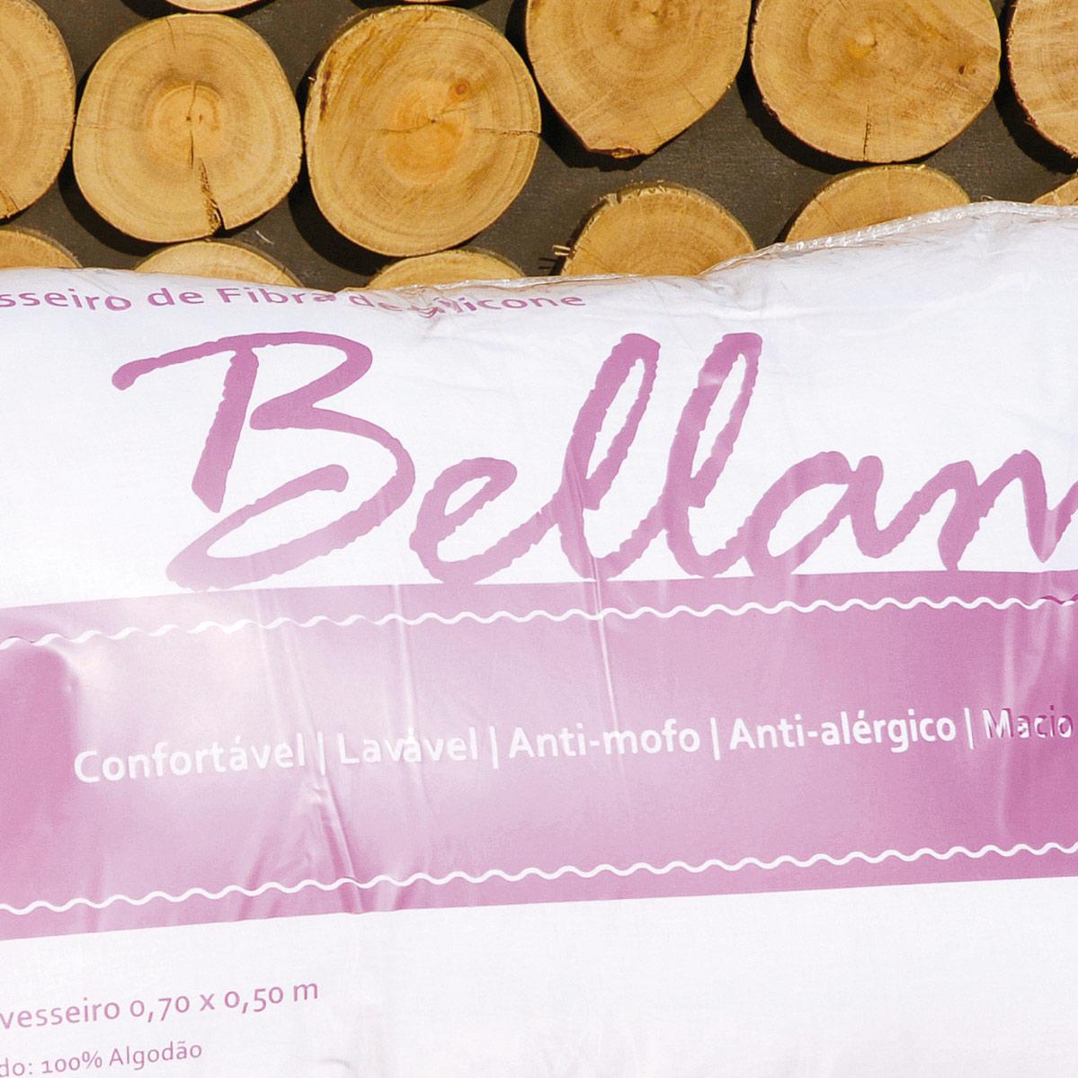 Travesseiro 48cm x 68cm - Travesseiro de Cama Bellamo