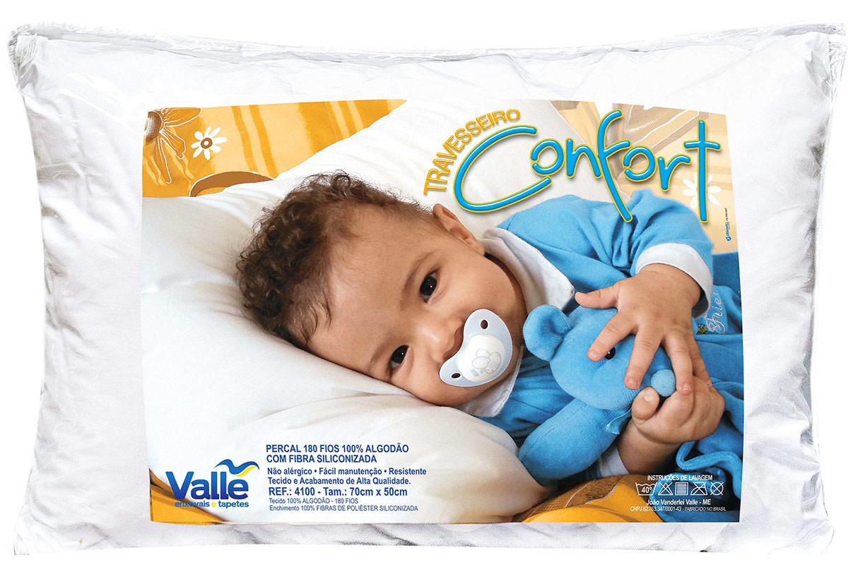 Travesseiro  Confort Branco  com 1 peças