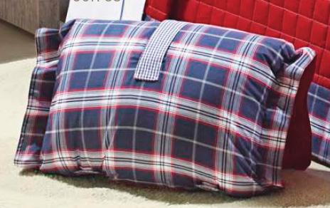 Travesseiro de Viagem ÚnicoPercal 200 fios com 2 peças - Travesseiro Viagem Kenzo
