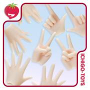 Obitsu 24cm Hands Set - White Skin