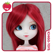 Peruca For My Doll 1005 - Cherry Red 9-10 - Pullip/Dal/Byul/Tae/Isul