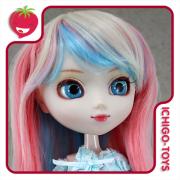 Peruca HR MIX 19 (louro, azul e rosa) -  8-9 Pullip/Dal/Byul/Tae/Isul