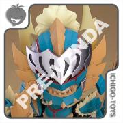 PRÉ-VENDA 28/02/2021 (VALOR TOTAL R$ 598,00 - 10% PARA RESERVA*) Nendoroid 1421-DX - Hunter Male Zinogre Alpha Armor DX - Monster Hunter World: Iceborn