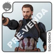 PRÉ-VENDA 31/05/2021 (VALOR TOTAL R$ 762,00 - 10% PARA RESERVA*) Mafex 122 - Captain America - Avengers: Infinity War