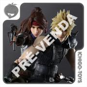 PRÉ-VENDA 31/08/2022 (VALOR TOTAL R$ 3.784,00 - 20% PARA RESERVA*) Play Arts Kai - Cloud Strife, Jessie and Motorcycle Set - Final Fantasy VII Remake