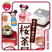 Re-ment Mickey e Minnie Sakura Teahouse - Coleção Completa!