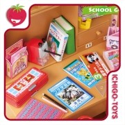 Re-ment Petit Sample - School Goods - coleção completa!