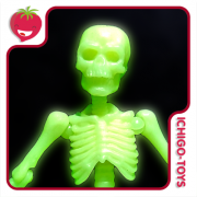 Re-ment Pose Skeleton - 03 Adult Human - Glow in the Dark