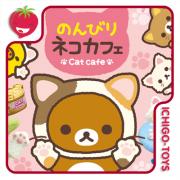 Re-ment Rilakkuma Cat Cafe - coleção completa!