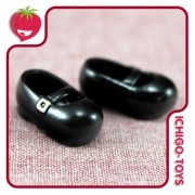 Sapatos Mary Janes para Obitsu 11cm - magnético - Serve em Middie Blythe!