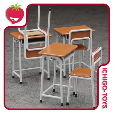 Hasegawa School Desk And Chair - 1/12  - Ichigo-Toys Colecionáveis