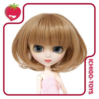 MIO - Peruca 001 - Light Brown Bob - 8-9 Pullip/Dal/Byul/Tae/Isul  - Ichigo-Toys Colecionáveis