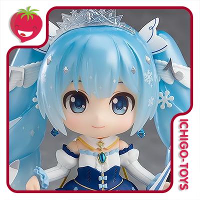 Nendoroid 1000 Wonder Festival 2019 - Snow Miku Snow Princess Ver - Vocaloid  - Ichigo-Toys Colecionáveis