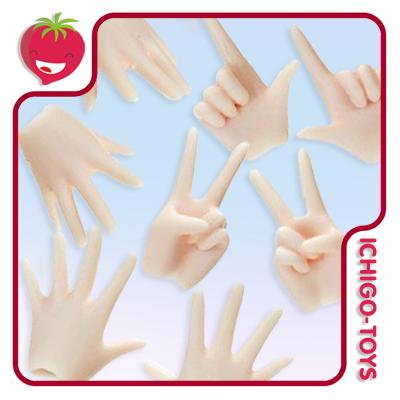 Obitsu 24cm Hands Set - White Skin   - Ichigo-Toys Colecionáveis