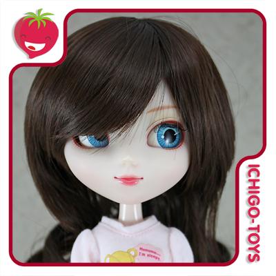 Peruca For My Doll K002 - Sweet Brown  9-10 - Pullip/Dal/Byul/Tae/Isul  - Ichigo-Toys Colecionáveis