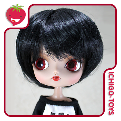 Peruca HR Bob Black -  8-9 Pullip/Dal/Byul/Tae/Isul  - Ichigo-Toys Colecionáveis