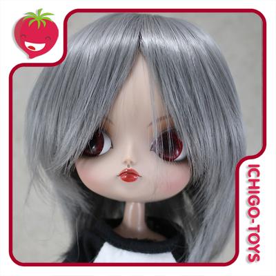 Peruca HR Mid Grey -  8-9 Pullip/Dal/Byul/Tae/Isul  - Ichigo-Toys Colecionáveis