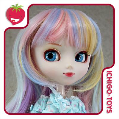 Peruca HR MIX 20 (amarelo, lilás, azul e rosa) -  8-9 Pullip/Dal/Byul/Tae/Isul  - Ichigo-Toys Colecionáveis