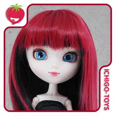 Peruca HR MIX 25 (vermelho e preto) -  8-9 Pullip/Dal/Byul/Tae/Isul  - Ichigo-Toys Colecionáveis