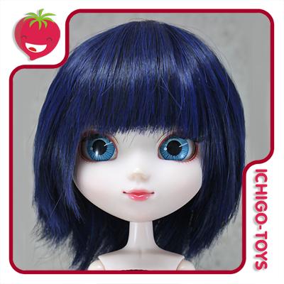 Peruca HR MIX 27  (preto e azul) -  8-9 Pullip/Dal/Byul/Tae/Isul  - Ichigo-Toys Colecionáveis
