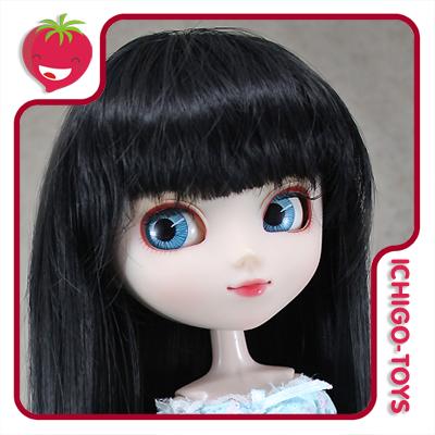 Peruca HR Preta -  8-9 Pullip/Dal/Byul/Tae/Isul  - Ichigo-Toys Colecionáveis