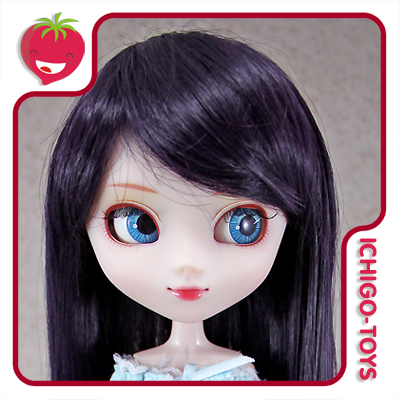 Peruca HR Preta (com brilho roxo) -  8-9 Pullip/Dal/Byul/Tae/Isul  - Ichigo-Toys Colecionáveis