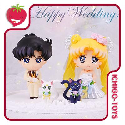 Petit Chara! Happy Wedding - Sailor Moon  - Ichigo-Toys Colecionáveis