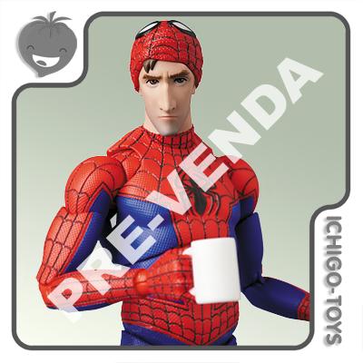 PRÉ-VENDA 31/01/2021 (VALOR TOTAL R$ 768,00 - 10% PARA RESERVA*) Mafex 109 - Peter B. Parker - Spider-Man into the Spider-Verse  - Ichigo-Toys Colecionáveis