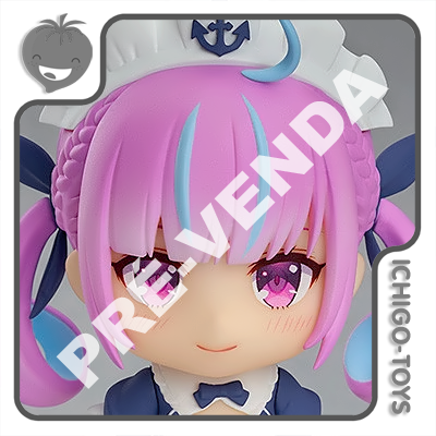 PRÉ-VENDA 28/02/2022 (VALOR TOTAL R$ 592,00 - 10% PARA RESERVA*) Nendoroid 1663 - Minato Aqua - Hololive Production  - Ichigo-Toys Colecionáveis