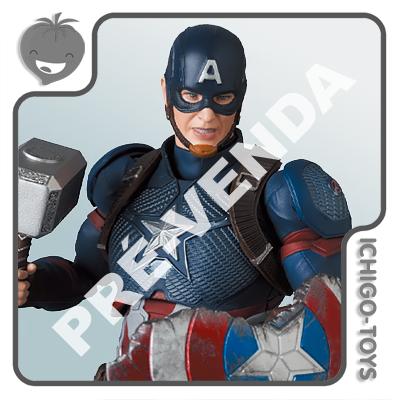 PRÉ-VENDA 31/01/2022 (VALOR TOTAL R$ 762,00 - 10% PARA RESERVA*) Mafex 130 - Captain America - Avengers: Endgame  - Ichigo-Toys Colecionáveis