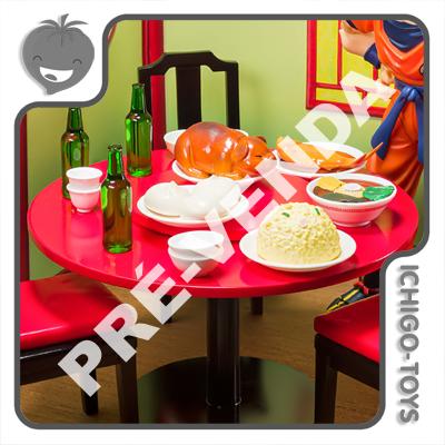 PRÉ-VENDA 30/09/2021 (VALOR TOTAL R$ 432,00 - 10% PARA RESERVA*) S.H. Figuarts - Son Goku Eating Moderately Set - Dragon Ball Z  - Ichigo-Toys Colecionáveis