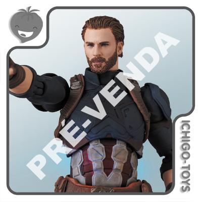 PRÉ-VENDA 31/05/2021 (VALOR TOTAL R$ 762,00 - 10% PARA RESERVA*) Mafex 122 - Captain America - Avengers: Infinity War  - Ichigo-Toys Colecionáveis