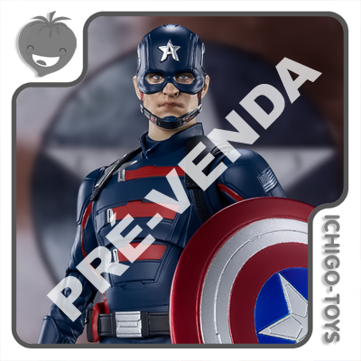 PRÉ-VENDA 30/11/2021 (VALOR TOTAL R$ 858,00 - 10% PARA RESERVA*) S.H. Figuarts Tamashii Web Exclusive - Captain America (John F. Walker) - The Falcon and the Winter Soldier  - Ichigo-Toys Colecionáveis