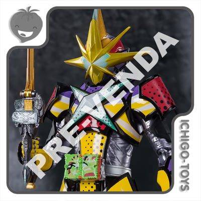 PRÉ-VENDA 31/01/2022 (VALOR TOTAL R$ 764,00 - 10% PARA RESERVA*) S.H. Figuarts Tamashii Web Exclusive - Masked Rider Saikou Kin no Buki Gin no Buki X Sword Man - Masked Rider Saber  - Ichigo-Toys Colecionáveis