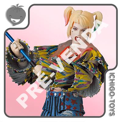 PRÉ-VENDA 31/03/2022 (VALOR TOTAL R$ 848,00 - 10% PARA RESERVA*) Mafex 159 - Harley Quinn Caution Tape Jacket - Birds of Prey  - Ichigo-Toys Colecionáveis