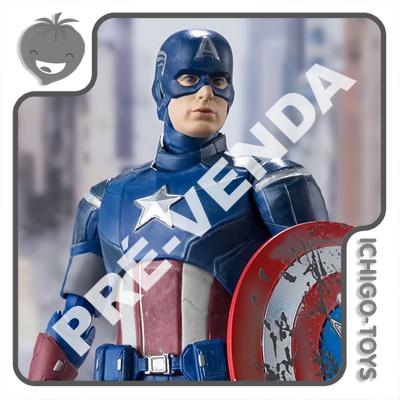 PRÉ-VENDA 30/06/2021 (VALOR TOTAL R$ 718,00 - 10% PARA RESERVA*) S.H. Figuarts - Captain America Avengers Assemble - Avengers  - Ichigo-Toys Colecionáveis