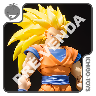 PRÉ-VENDA 31/10/2021 (VALOR TOTAL R$ 706,00 - 10% PARA RESERVA*) S.H. Figuarts - Goku Super Saiyan 3 - Dragon Ball Z  - Ichigo-Toys Colecionáveis