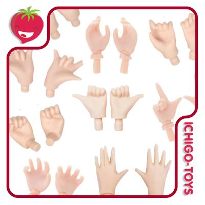 Pure Neemo Hands (Para corpo S, M e L)  - A, B ou C - white ou natural  - Ichigo-Toys Colecionáveis