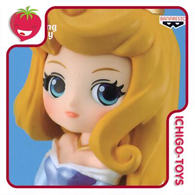 Qposket Petit Girls Festival Vol2 - Aurora Blue Pearl - Sleeping Beauty - Disney Characters   - Ichigo-Toys Colecionáveis