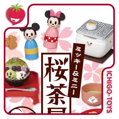 Re-ment Mickey e Minnie Sakura Teahouse - Coleção Completa!  - Ichigo-Toys Colecionáveis