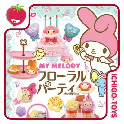 Re-ment My Melody Floral Party - Coleção Completa!  - Ichigo-Toys Colecionáveis