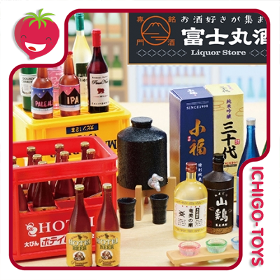 Re-ment Petit Sample Fujimaru Liquor Store - coleção completa!  - Ichigo-Toys Colecionáveis