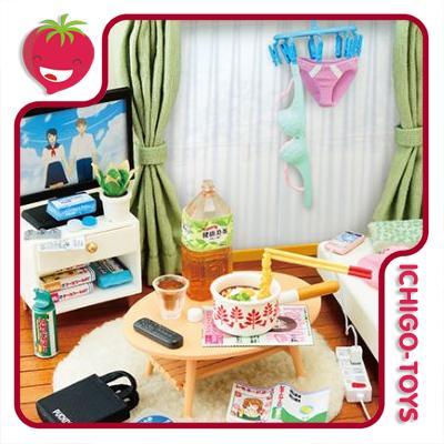 Re-ment Petit Sample Zubora-chan Room - escala 1/12  - coleção completa!  - Ichigo-Toys Colecionáveis