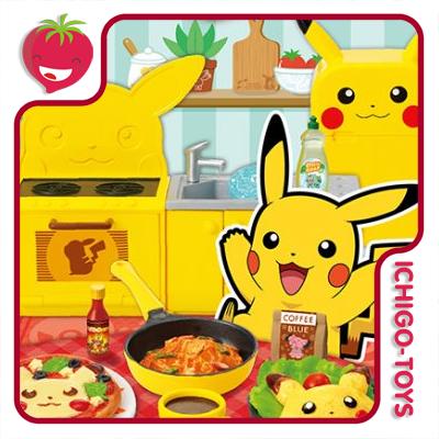 Re-ment Pokémon Enjoy Cooking! Pikachu Kitchen - Coleção Completa! 1/18  - Ichigo-Toys Colecionáveis